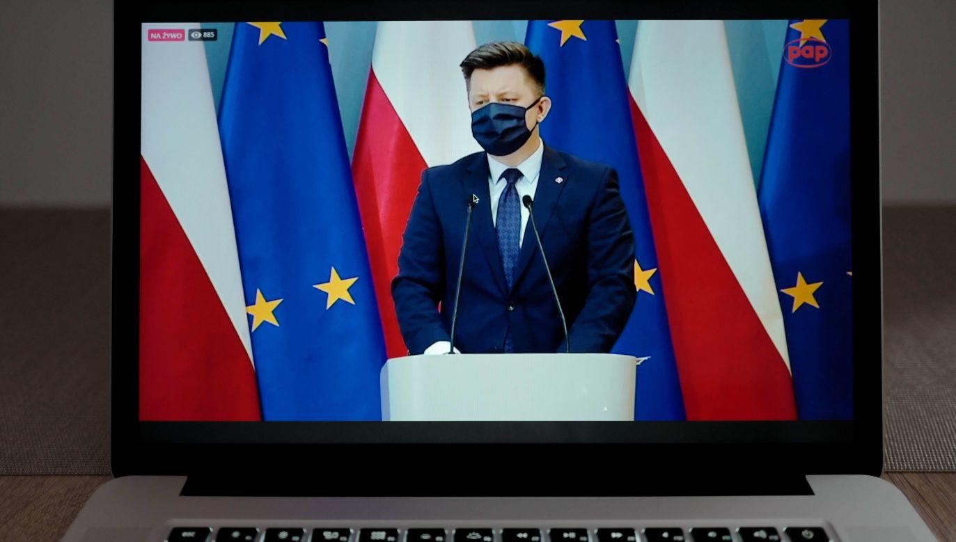 Szef KPRM Michał Dworczyk (fot. PAP/Mateusz Marek)