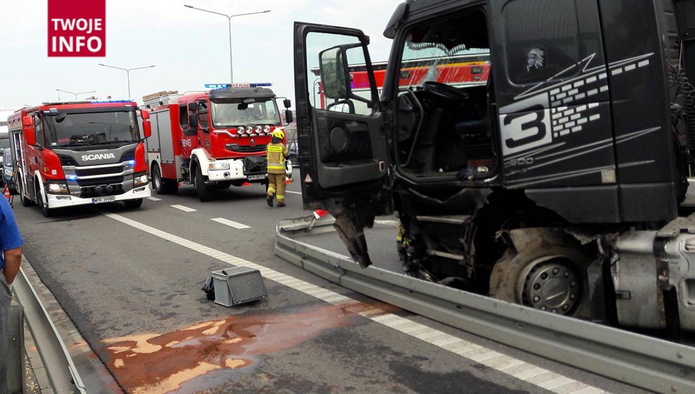 Poważny wypadek na S8 (fot. Twoje Info)