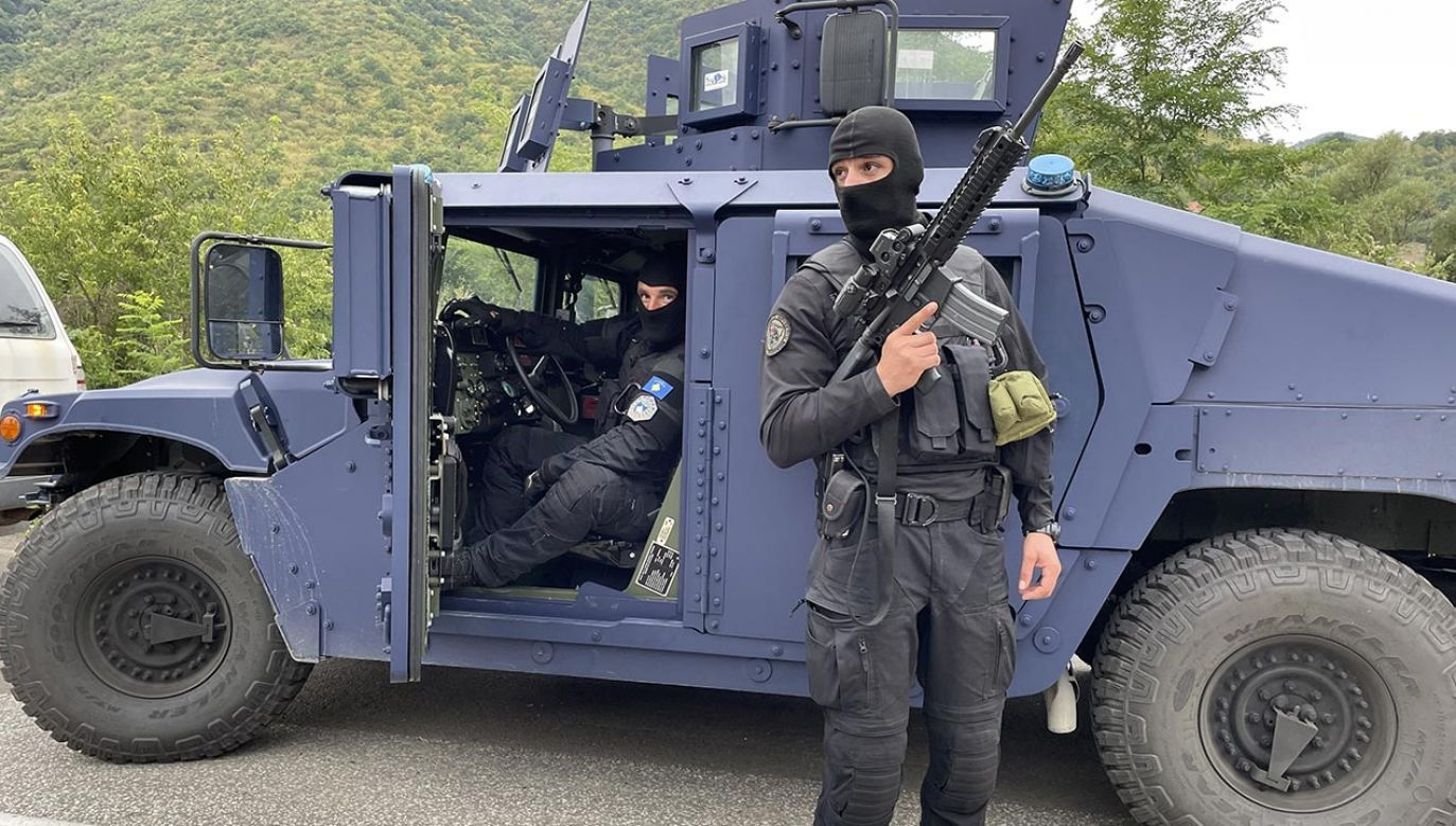 Władze Kosowa wysłały w pobliże granicy z Serbią specjalne jednostki policji (fot. Eren Beksac/Anadolu Agency via Getty Images)