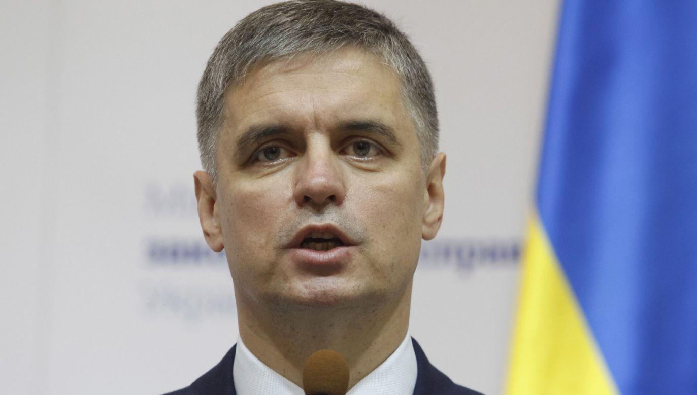 Szef ukraińskiej dyplomacji Wadym Prystajko nie określił ile osób ma zostać objętych wymianą  (fot. PAP/EPA/Stepan Franko)