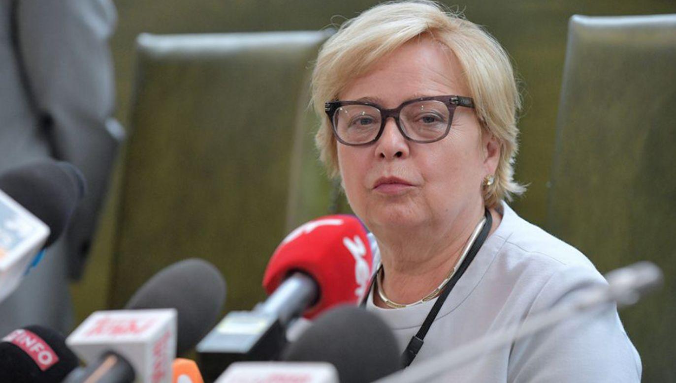 Prezydent przypomniał okoliczności wyborów Małgorzaty Gersdorf na I prezesa SN  (fot. PAP/Marcin Obara)