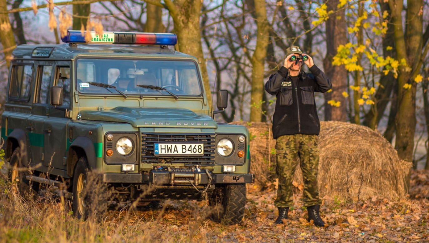 313 prób nielegalnego przekroczenia granicy z Białorusi do Polski (fot. tt/@Straz_Graniczna)