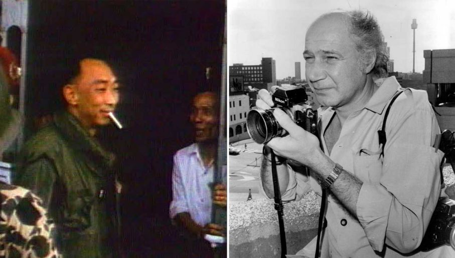 Od lewej: Nguyen Ngoc Loan i fotograf Eddie Adams (fot. Julian Kevin Zakaras/Fairfax Media via Getty Images; CBS via Getty Images)