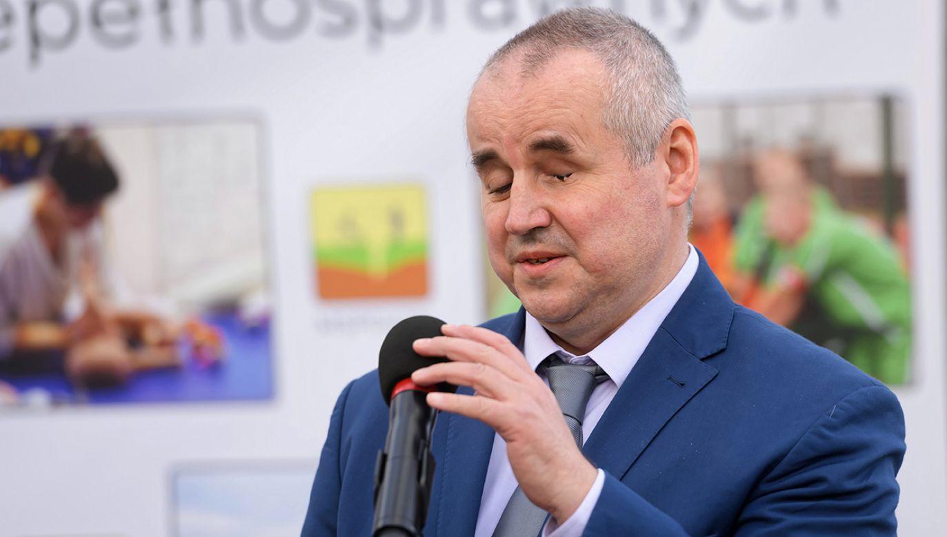 Paweł Wdówik, wiceminister rodziny i pełnomocnik rządu ds. osób niepełnosprawnych (fot. arch.PAP/Jakub Kaczmarczyk)
