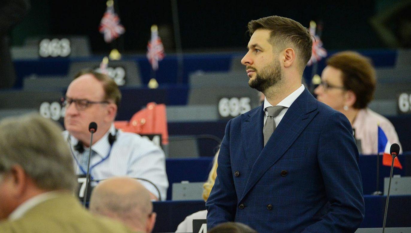 Zdecydowane słowa europosła PiS (fot. Forum/Aleksiej Witwicki)