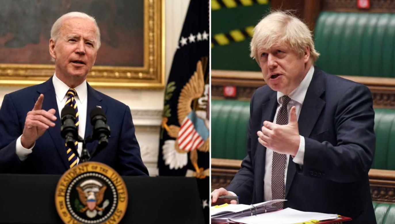 Joe Biden i Boris Johnson (fot. EPA/Ken Cedeno / POOL/PAP/EPA/JESSICA TAYLOR/UK PARLIAMENT HANDOUT)