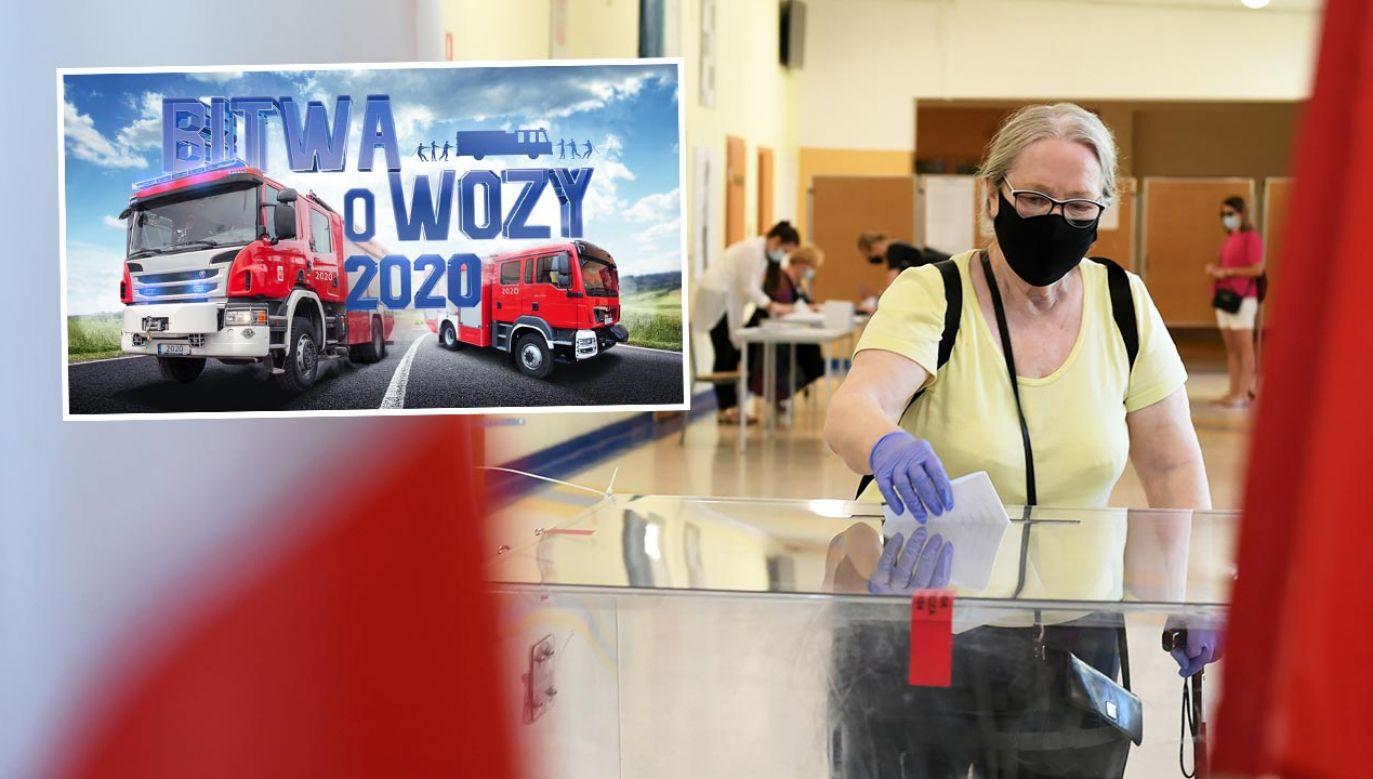 """Wiceszef MSWiA podkreśla profrekwencyjny sukces akcji """"Bitwa o wozy"""" (fot. PAP/Adam Warżawa)"""