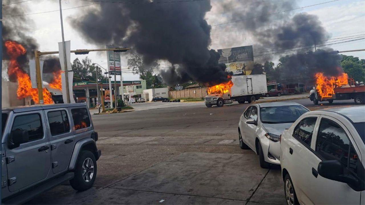 W bitwie o Culiacan zginęło co najmniej 8 osób (fot. PAP/EPA/STR)
