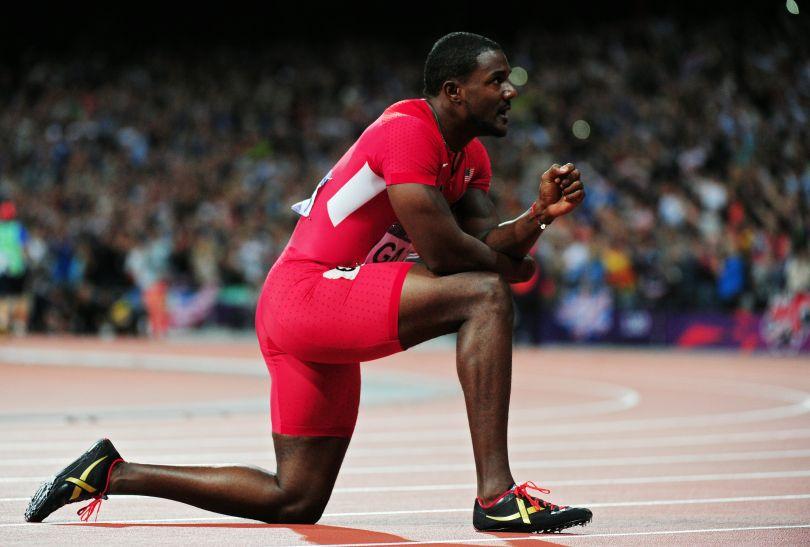 Brązowy medal zdobył Amerykanin Justin Gatlin (fot. Getty Images)