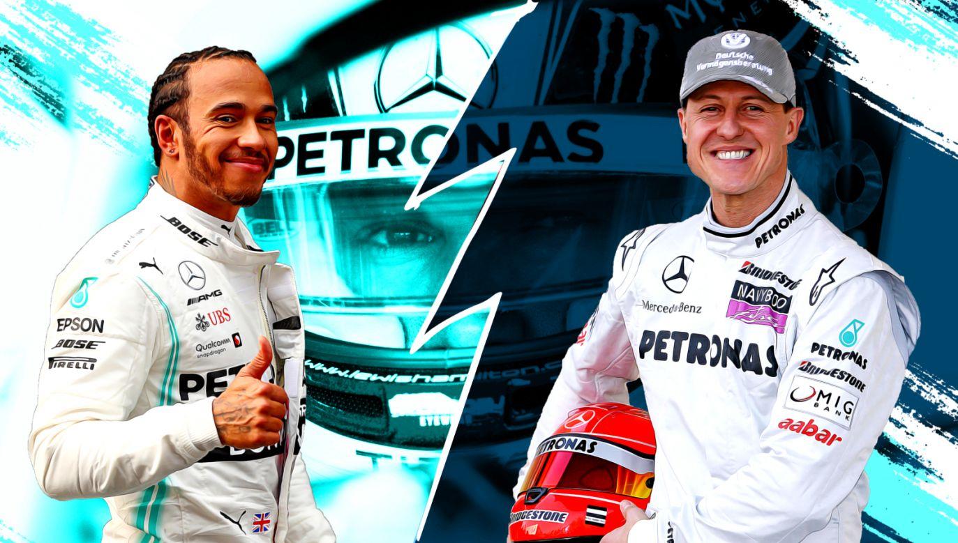 W sezonie 2020 Lewis Hamilton może pobić wiele rekordów Michaela Schumachera (fot. Getty Images/TVPSPORT.PL)