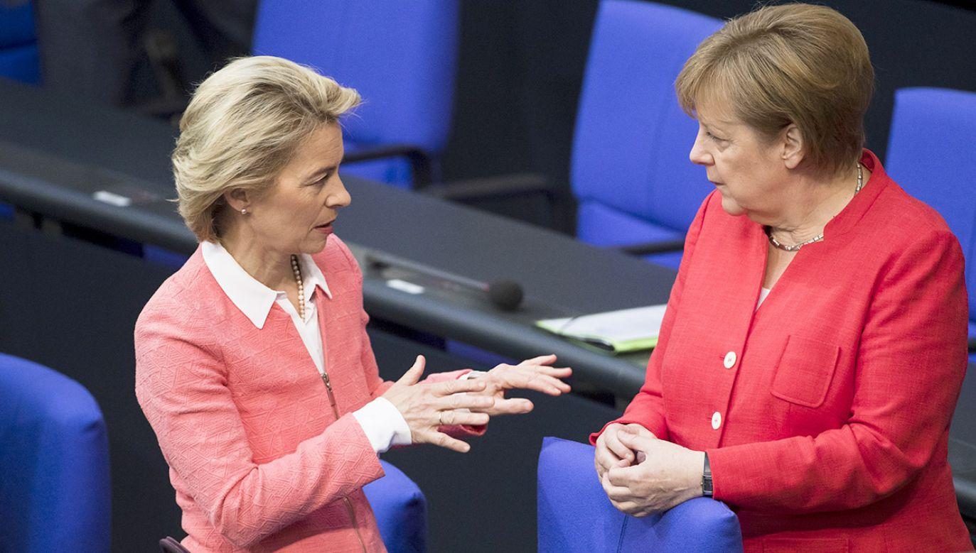 Politycy CDU oraz CSU apelują o udzielenie poparcia dla Ursuli von der Leyen w wyborach na stanowisko przewodniczącego KE (fot. Emmanuele Contini/NurPhoto via Getty Images)