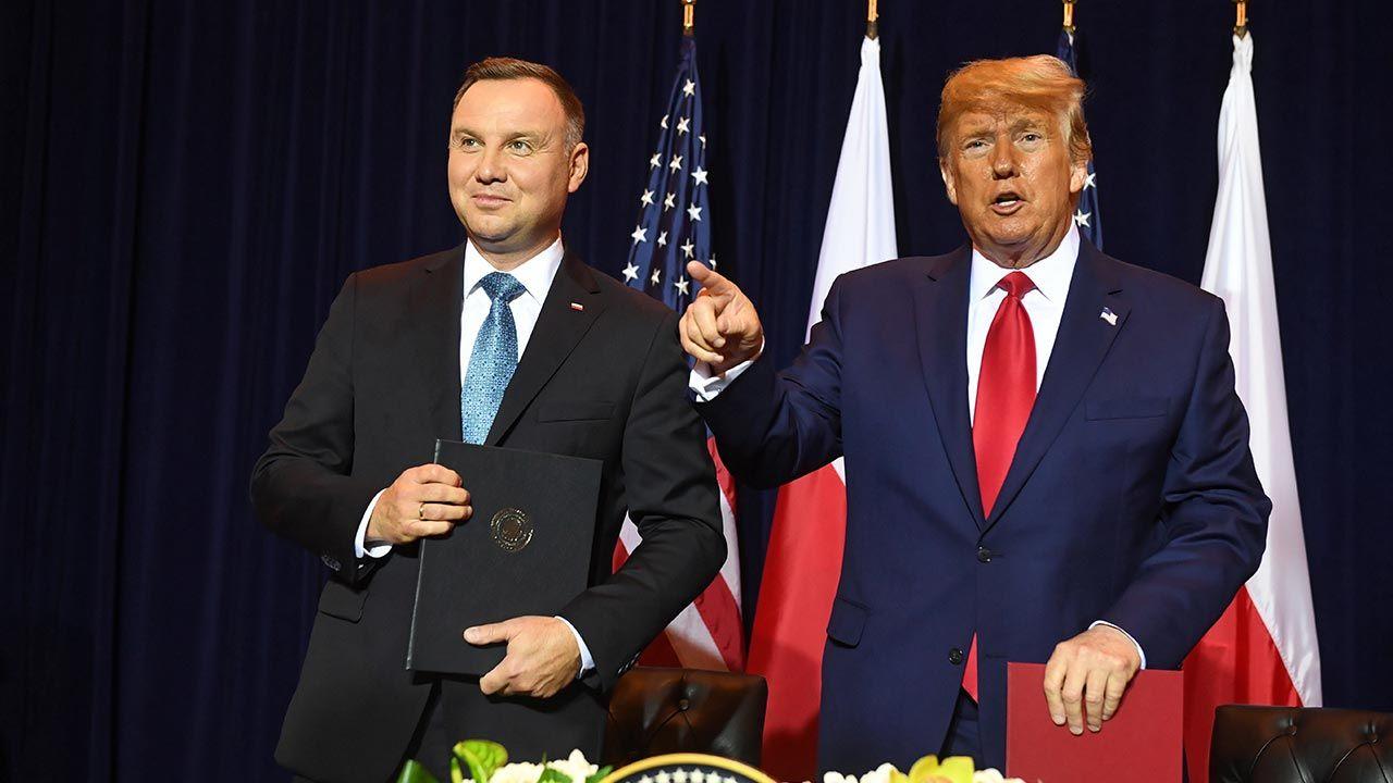 Prezydent Andrzej Duda w środę wieczorem czasu polskiego spotka się z Donaldem Trumpem (fot.  PAP/Radek Pietruszka)