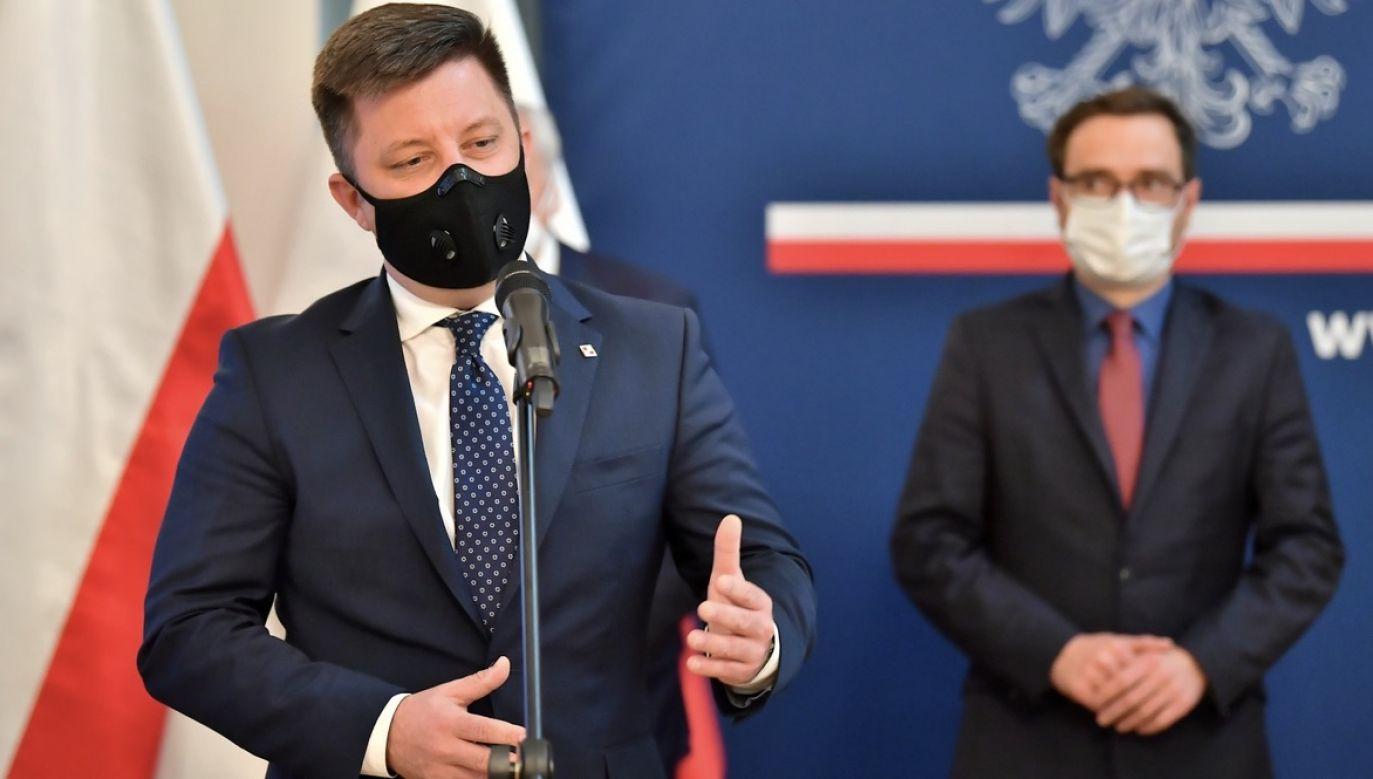 Szef kancelarii premiera Michał Dworczyk (fot. PAP/Maciej Kulczyński)