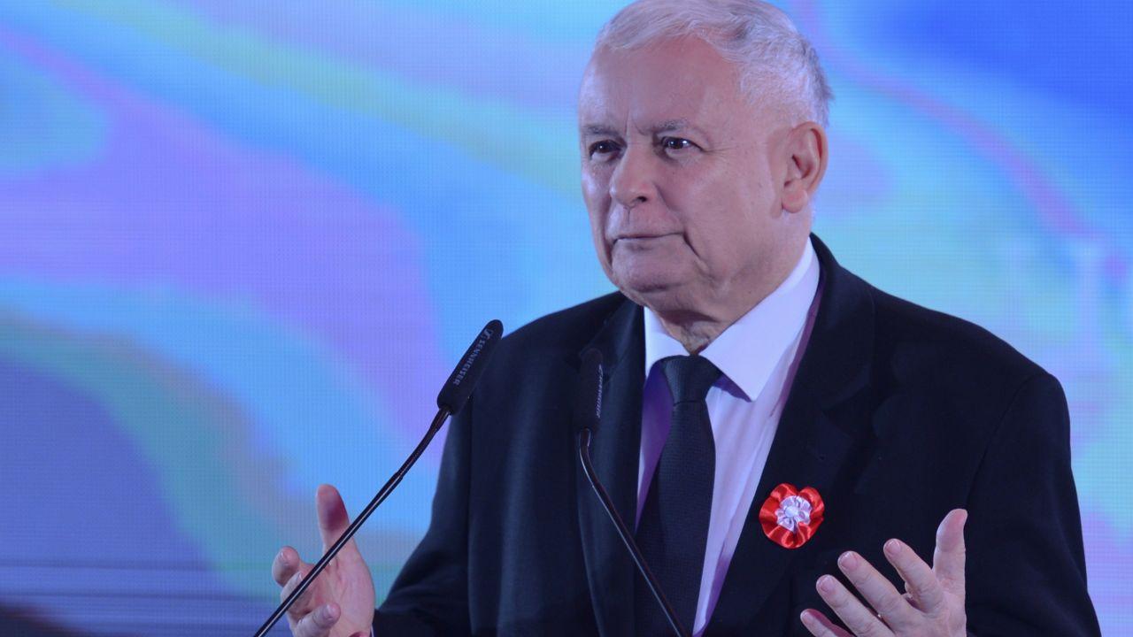 Prezes PiS Jarosław Kaczyński (fot. Artur Widak/NurPhoto via Getty Images)