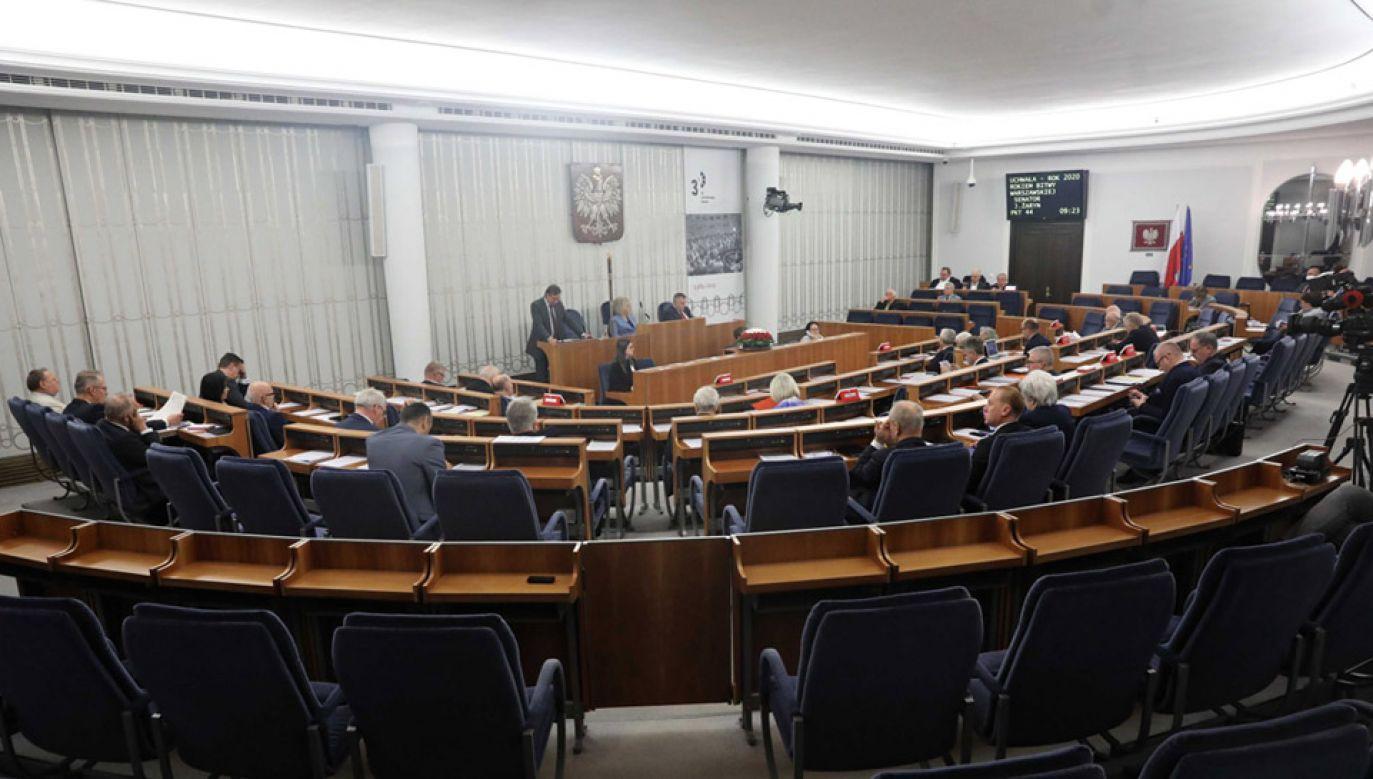 To ostatnie posiedzenie Senatu tej kadencji (fot. PAP/Tomasz Gzell)