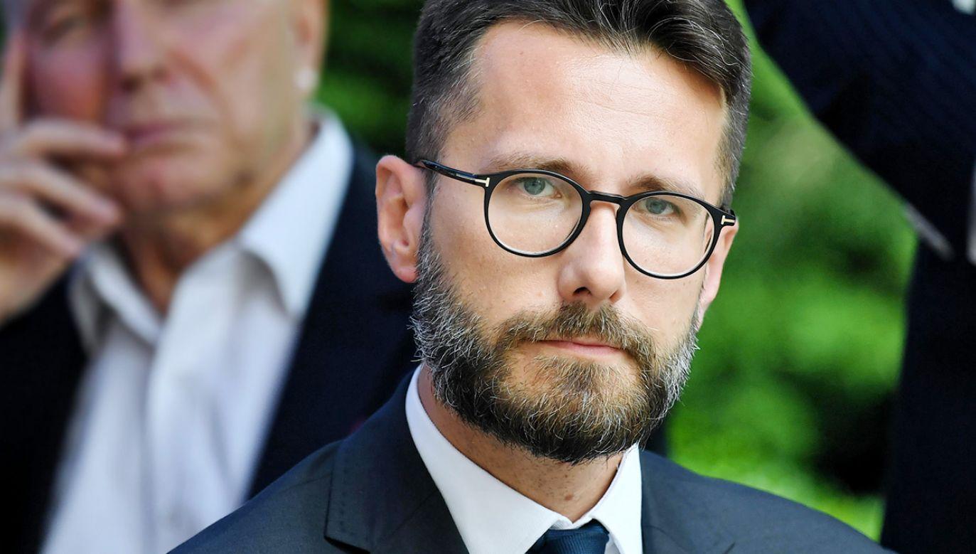 Zastępca rzecznika PiS Radosław Fogiel (fot. PAP/Piotr Polak)