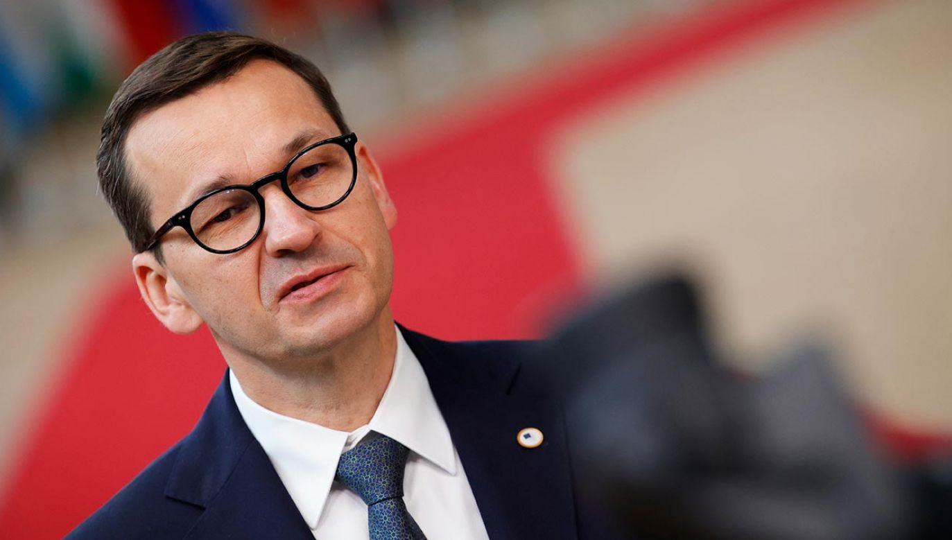 Premier wskazuje, co wywalczyła Polska na szczycie UE (fot. PAP/EPA/OLIVIER MATTHYS / POOL)