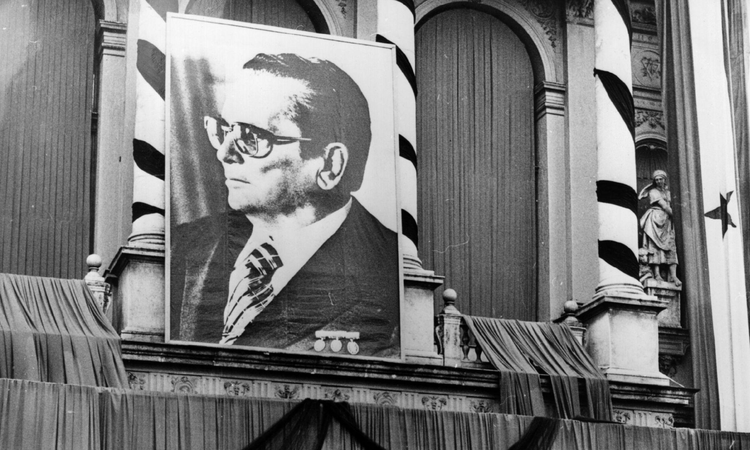 Uroczystości pogrzebowe Josipa Broza Tity w Zagrzebiu (1980). Fot. Keystone/Getty Images