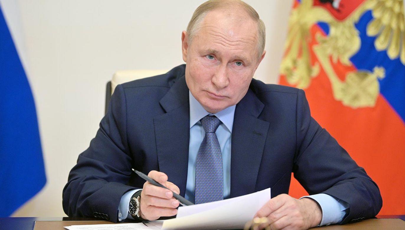 Unia Europejska bezsilna na szantaż gazowy Rosji (fot. PAP/EPA/ALEXEI DRUZHININ / SPUTNIK / KREMLIN POOL)