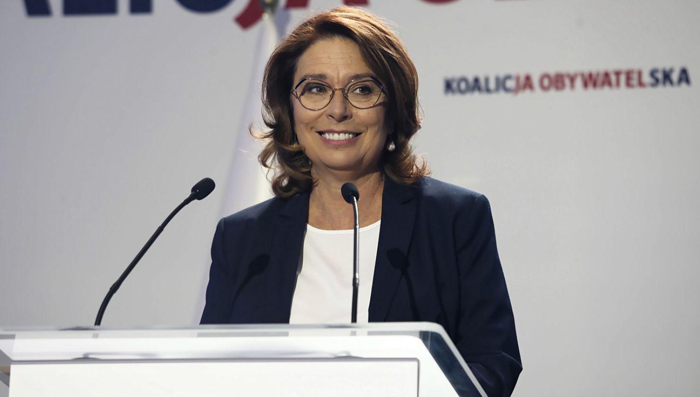 Niemal połowa nie wie, czy kandydatka PO-KO na premeira by sobie na tym stanowisku poradziła (fot. PAP/Tomasz Gzell)