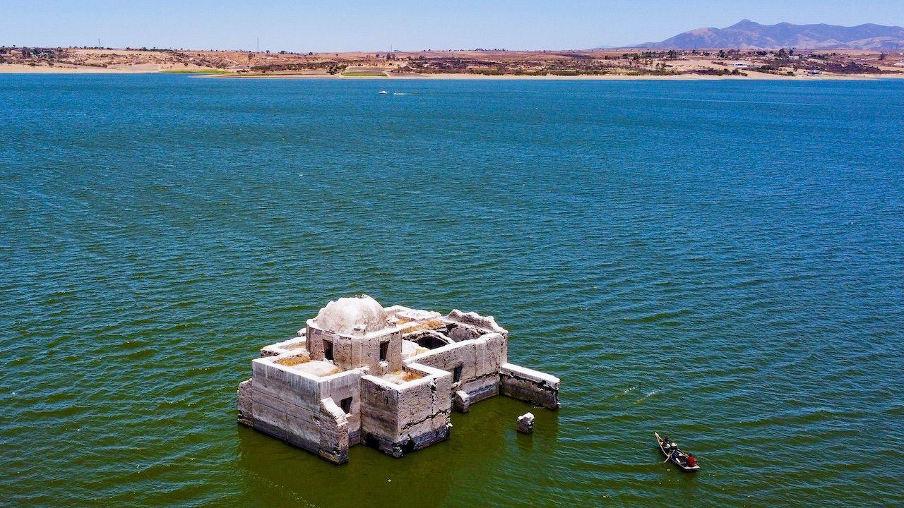 Zalanie obiektu było wynikiem budowy tamy Purísima (fot. L.Ramírez/EFE/Forum)