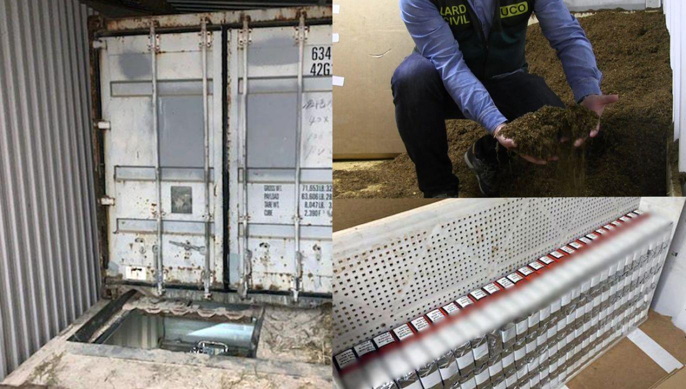 Śledczy przejęli ponad trzy miliony sztuk nielegalnych papierosów, 144 kg marihuany i 20 kg haszyszu (fot. Europol; La Guardia Civil)