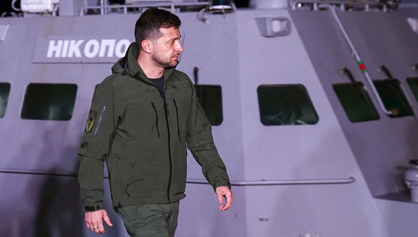 Prezydent Zełenski wizytuje zwrócone okręty (fot. Arkhip Vereshchagin\TASS via Getty Images)