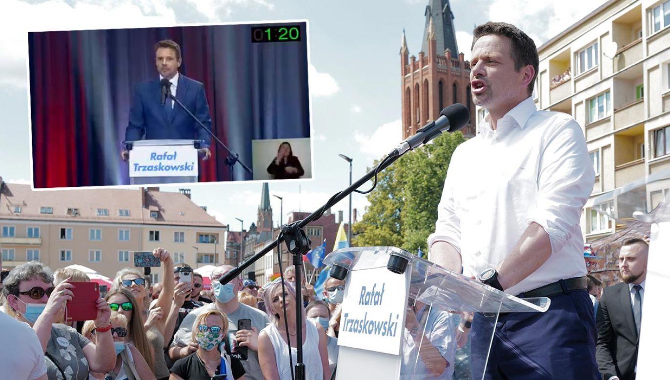 W czasie debaty Rafała Trzaskowskiego zapytano, czy zamierza kontynuować którekolwiek z działań Andrzeja Dudy (fot. PAP/Andrzej Grygiel)