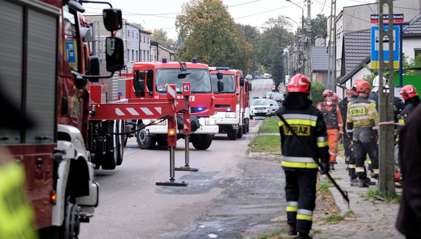 Najprawdopodobniej doszło do wybuchu gazu (fot. PAP/Hanna Bardo)