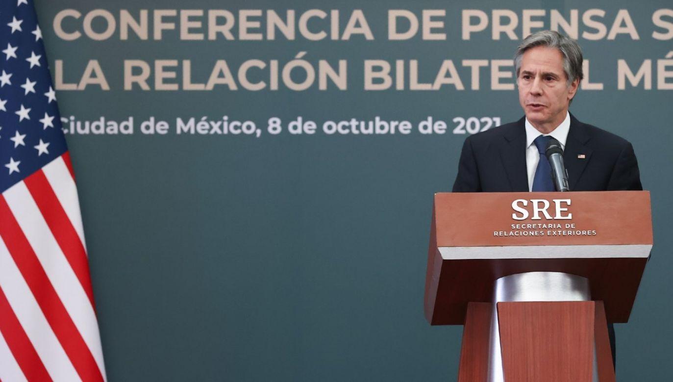 Sekretarz stanu USA Antony Blinken (fot. Hector Vivas/Getty Images)